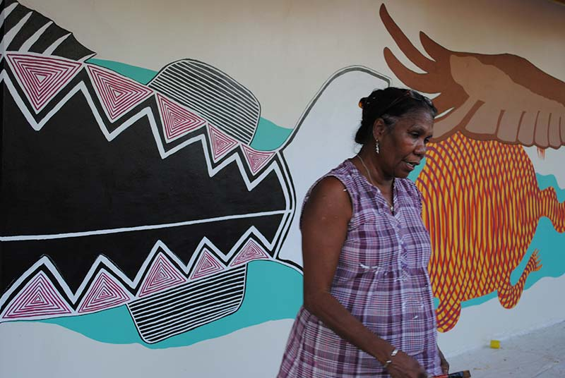 Howard Springs Mural with Denise Quall