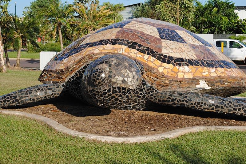 Lyons Community Turtle sculpture