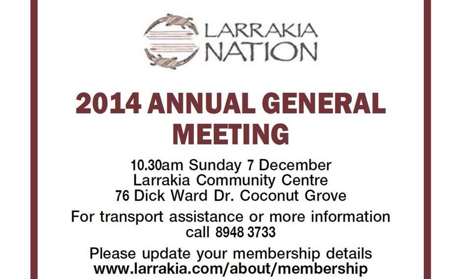 Larrakia Nation AGM 7 December