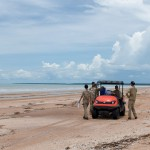 Larrakia Rangers conduct cleanup at Gunn Point Beach