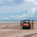 Larrakia Rangers conduct cleanup at Gunn Point Beach